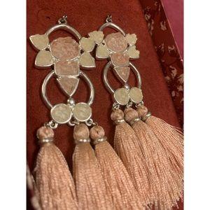 Pink crystal earrings tassel earrings LUCKY BRAND